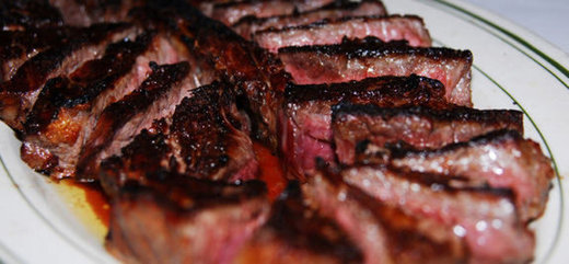 Food from Peter Luger Steak House in Brooklyn, NY