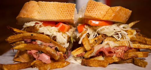 Food from Primanti Bros. in Pittsburgh, PA