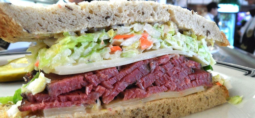 Food from Langer's Deli in Los Angeles, CA