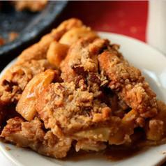 Apple Whiskey Crumble Pie