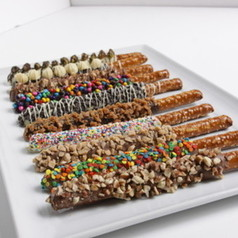 Chocolate Covered Ultimate Pretzel Rods - 12pack