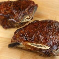 50 Day Dry-Aged USDA Prime Black Angus Bone-In NY Strip Steaks